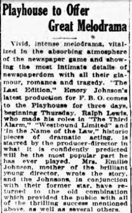 Mount Vernon, New York, Daily Argus 29th Dec 1925 trimmed