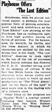 Mount Veron, New York, Daily Argus, 31st Dec 1925 Review